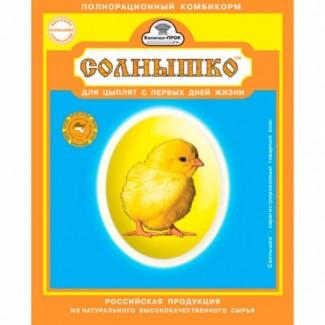 Солнышко полнорационный корм для цыплят, индюшат, и т. д 3кг (ОПТ)