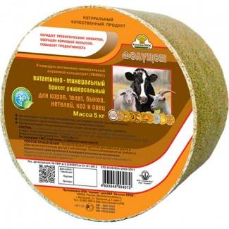 Фелуцен брикет К1-2 универс для коров, телят, овец. (5кг) (ОПТ)