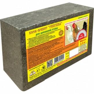 Корм-брикет Рябушка для домашней птицы, брикет 2, 5 кг