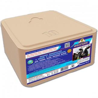 Лизунец соль 10кг с минералами для КРС в термоупаковке 10кг(ОПТ под заказ)