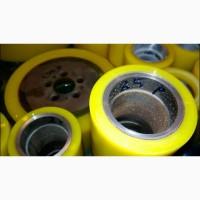 Восстановление колёс полиуретаном для складской техники